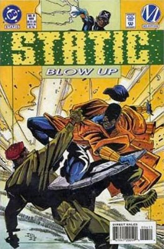 Cover of Static (Vol 1) #6. One of 250,000 Vintage American Comics on sale from Krypton!