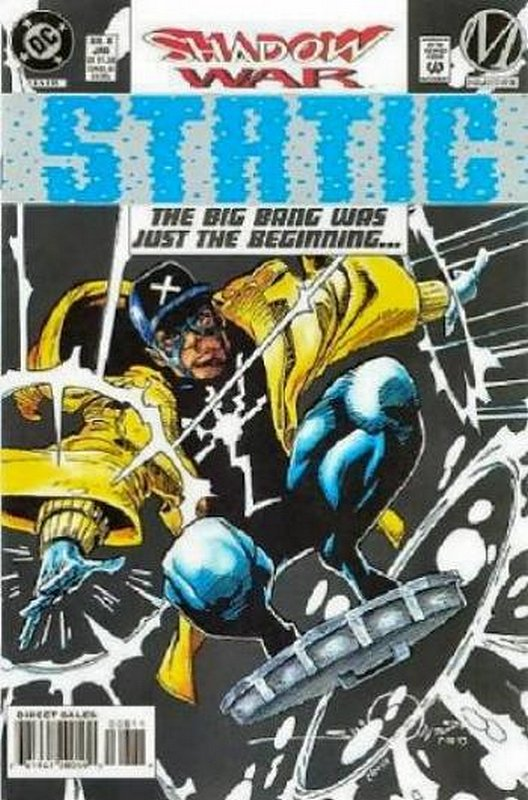 Cover of Static (Vol 1) #8. One of 250,000 Vintage American Comics on sale from Krypton!