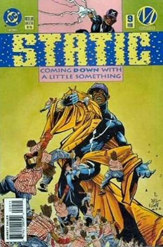 Cover of Static (Vol 1) #9. One of 250,000 Vintage American Comics on sale from Krypton!