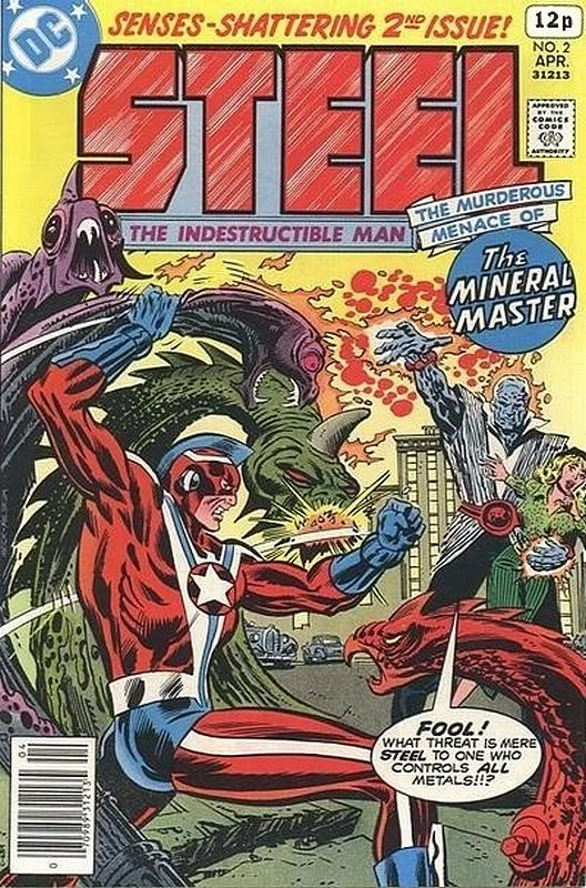 Cover of Steel (Vol 1) The Indestuctable Man #2. One of 250,000 Vintage American Comics on sale from Krypton!