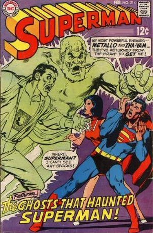 Cover of Superman (Vol 1) #214. One of 250,000 Vintage American Comics on sale from Krypton!