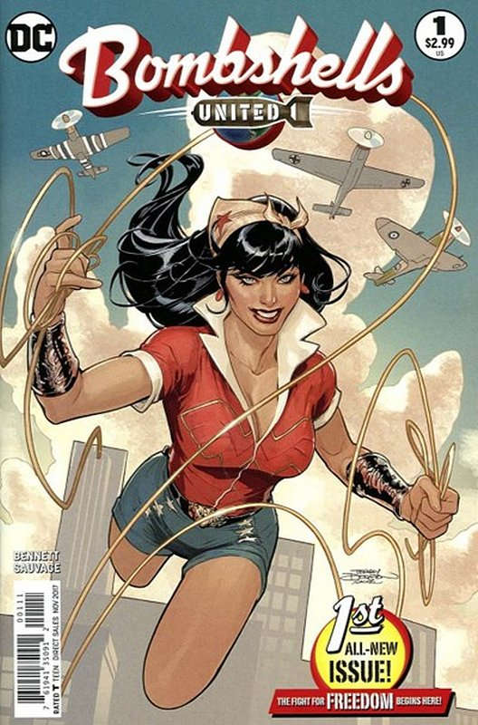 Cover of Bombshells United (Vol 1) #1. One of 250,000 Vintage American Comics on sale from Krypton!