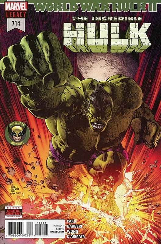 Cover of Incredible Hulk (Vol 6) #714. One of 250,000 Vintage American Comics on sale from Krypton!