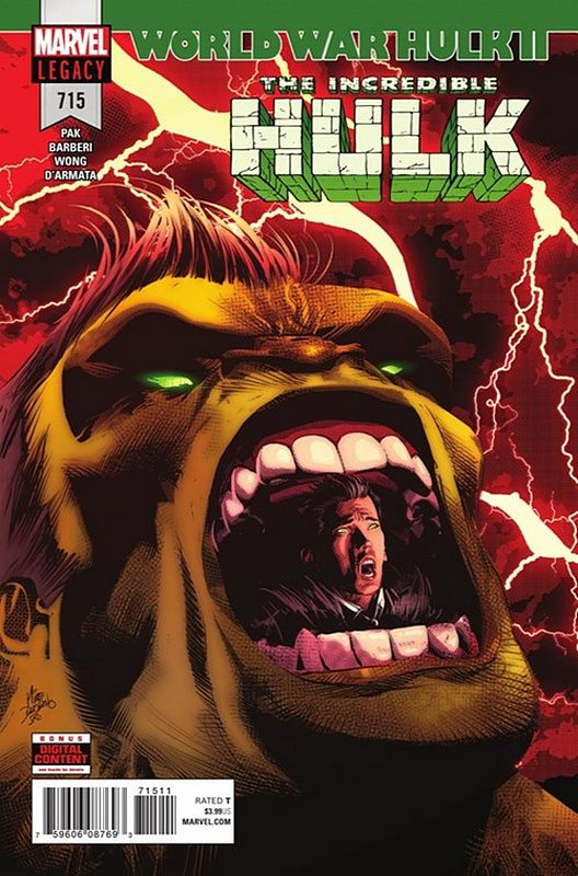 Cover of Incredible Hulk (Vol 6) #715. One of 250,000 Vintage American Comics on sale from Krypton!