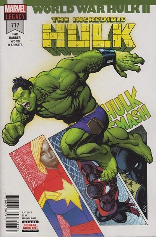Cover of Incredible Hulk (Vol 6) #717. One of 250,000 Vintage American Comics on sale from Krypton!