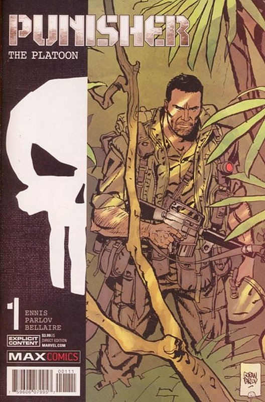 Cover of Punisher: Platoon (2017 Ltd) #1. One of 250,000 Vintage American Comics on sale from Krypton!
