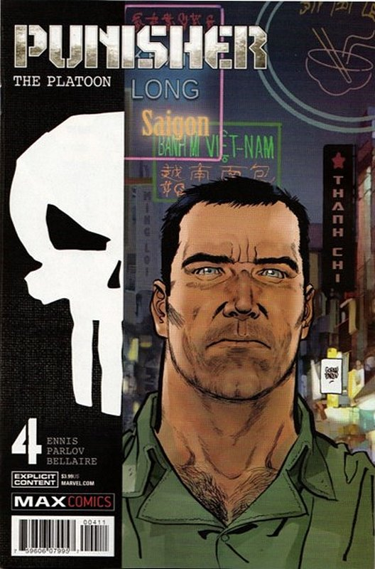 Cover of Punisher: Platoon (2017 Ltd) #4. One of 250,000 Vintage American Comics on sale from Krypton!
