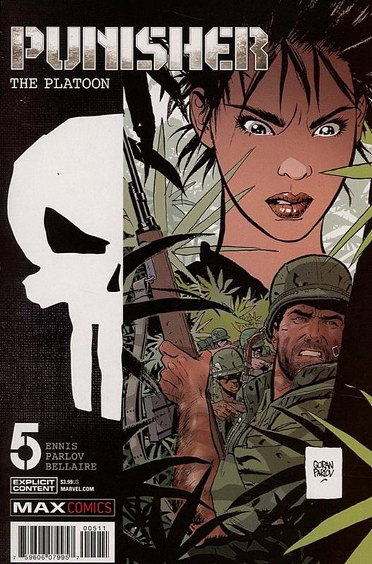 Cover of Punisher: Platoon (2017 Ltd) #5. One of 250,000 Vintage American Comics on sale from Krypton!