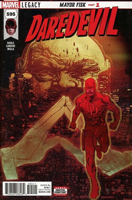 Cover of Daredevil (Vol 6) #595. One of 250,000 Vintage American Comics on sale from Krypton!