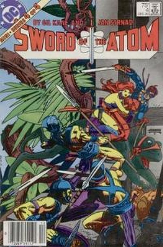 Cover of Atom (1983 Ltd) Sword of the #4. One of 250,000 Vintage American Comics on sale from Krypton!