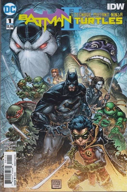 Cover of Batman/Teenage Mutant Ninja Turtles II (2017 Ltd) #1. One of 250,000 Vintage American Comics on sale from Krypton!