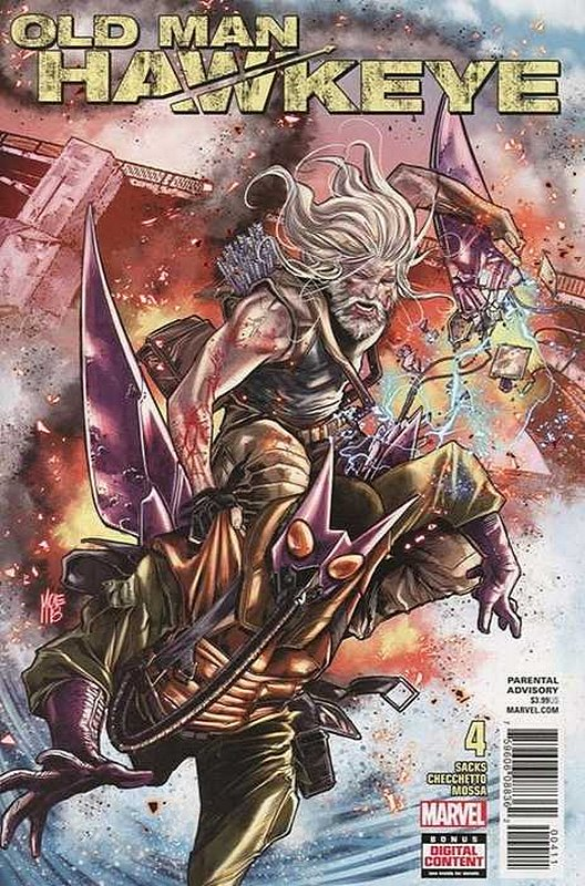 Cover of Old Man Hawkeye (2017 Ltd) #4. One of 250,000 Vintage American Comics on sale from Krypton!