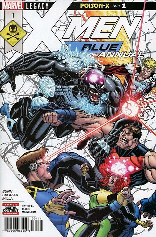 Cover of X-Men: Blue Annual (2017) #1. One of 250,000 Vintage American Comics on sale from Krypton!