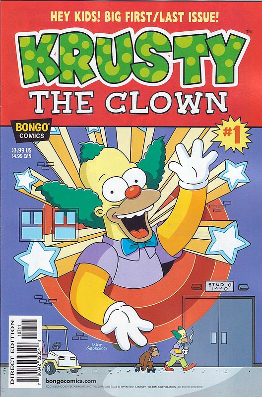Cover of Krusty The Clown (2018 One Shot) #1. One of 250,000 Vintage American Comics on sale from Krypton!