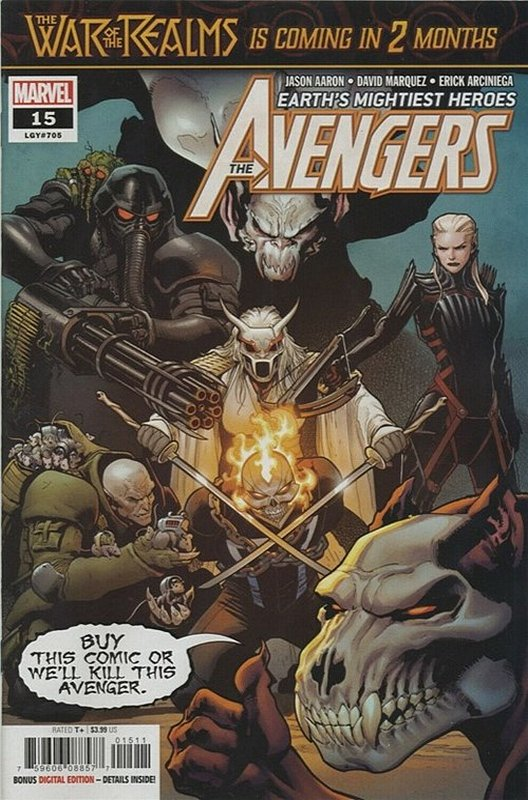 Cover of Avengers (Vol 9) #15. One of 250,000 Vintage American Comics on sale from Krypton!