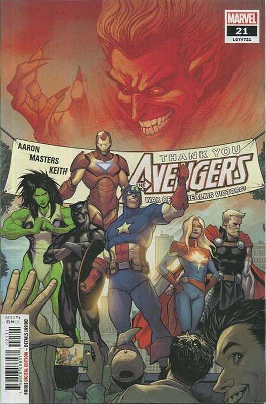 Cover of Avengers (Vol 9) #21. One of 250,000 Vintage American Comics on sale from Krypton!