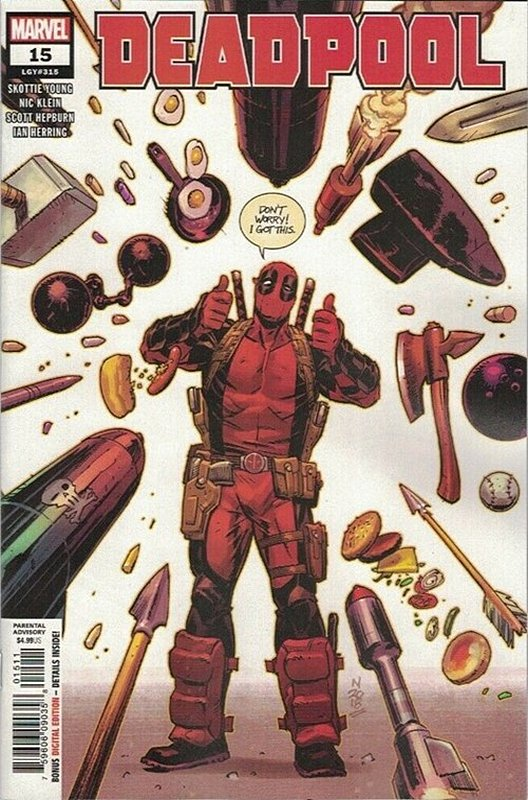 Cover of Deadpool (Vol 5) #15. One of 250,000 Vintage American Comics on sale from Krypton!