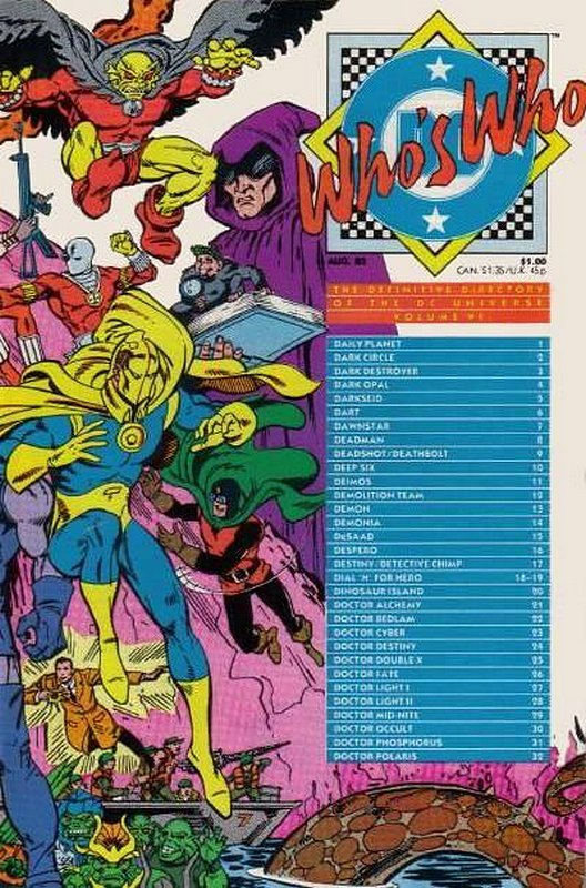 Cover of Whos Who (Vol 1) #6. One of 250,000 Vintage American Comics on sale from Krypton!