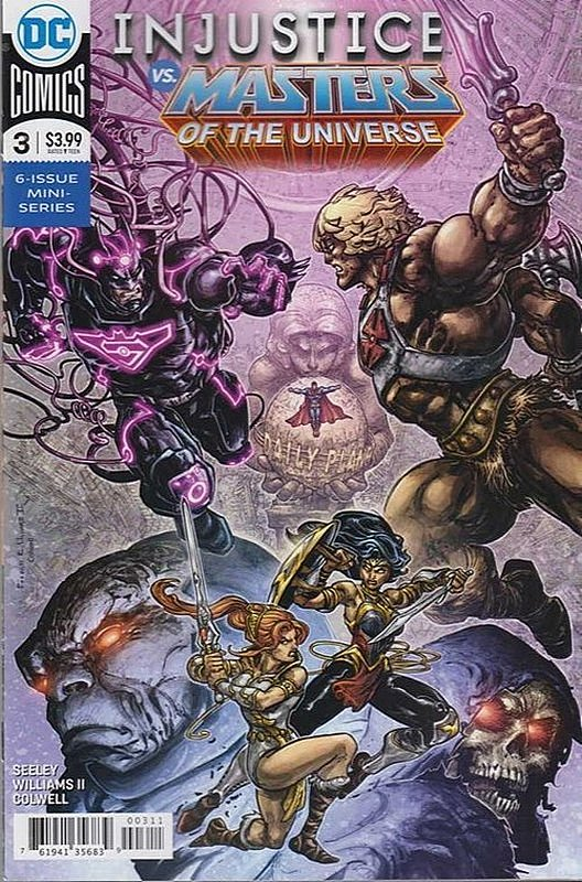 Cover of Injustice vs Masters of Universe (2018 Ltd) #3. One of 250,000 Vintage American Comics on sale from Krypton!