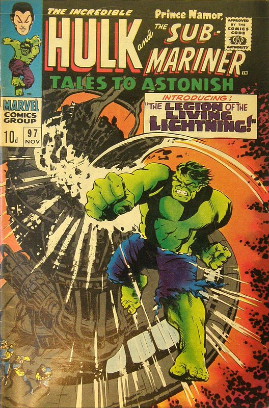Cover of Tales to Astonish (Vol 1) #97. One of 250,000 Vintage American Comics on sale from Krypton!