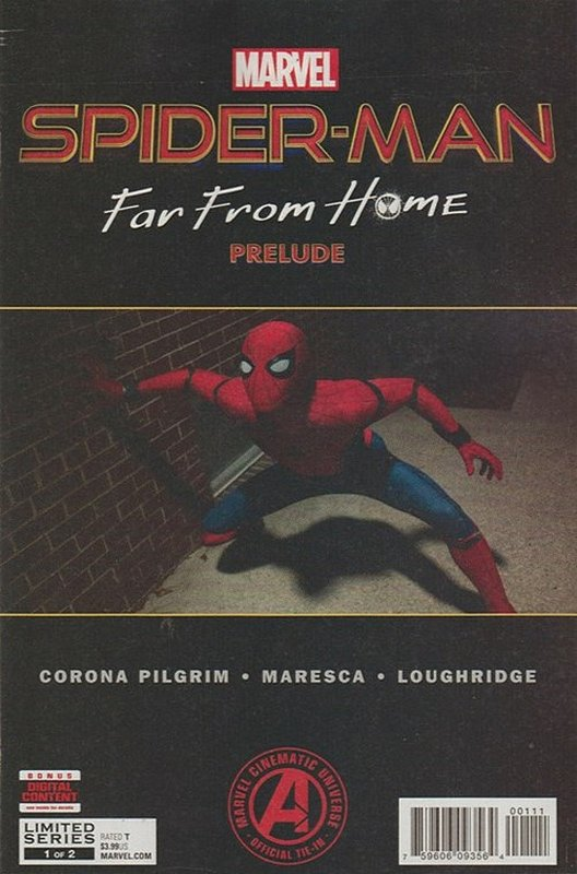 Cover of Spider-Man: Far from Home Prelude (2019 Ltd) #1. One of 250,000 Vintage American Comics on sale from Krypton!