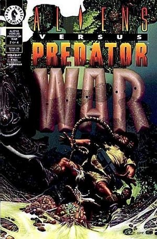 Cover of Aliens vs Predator: War (1995 Ltd) #2. One of 250,000 Vintage American Comics on sale from Krypton!