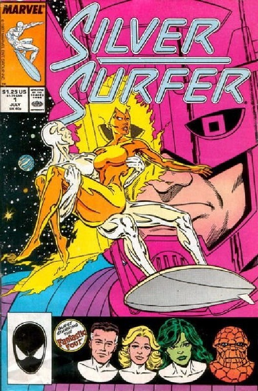 Cover of Silver Surfer (Vol 2) #1. One of 250,000 Vintage American Comics on sale from Krypton!