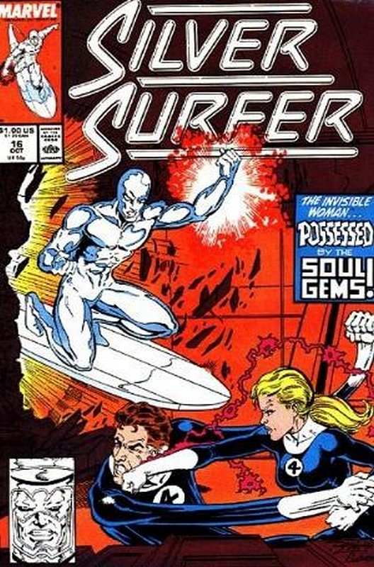 Cover of Silver Surfer (Vol 2) #16. One of 250,000 Vintage American Comics on sale from Krypton!