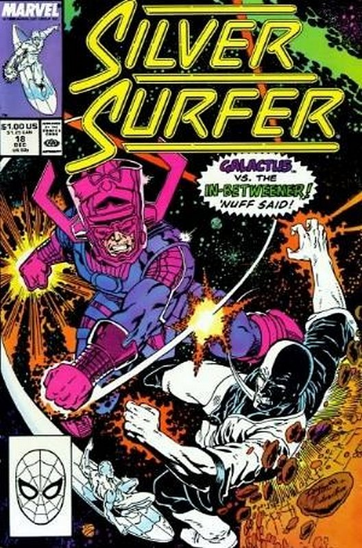 Cover of Silver Surfer (Vol 2) #18. One of 250,000 Vintage American Comics on sale from Krypton!