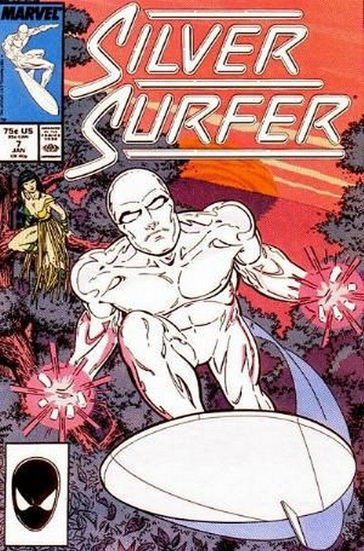 Cover of Silver Surfer (Vol 2) #7. One of 250,000 Vintage American Comics on sale from Krypton!