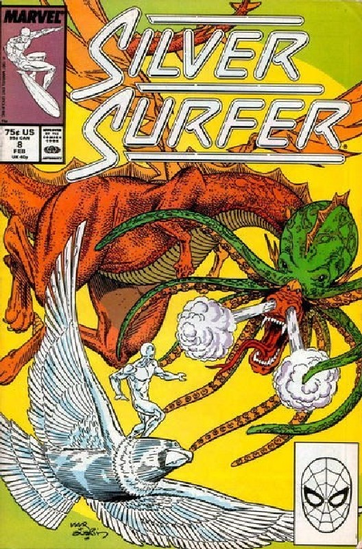 Cover of Silver Surfer (Vol 2) #8. One of 250,000 Vintage American Comics on sale from Krypton!
