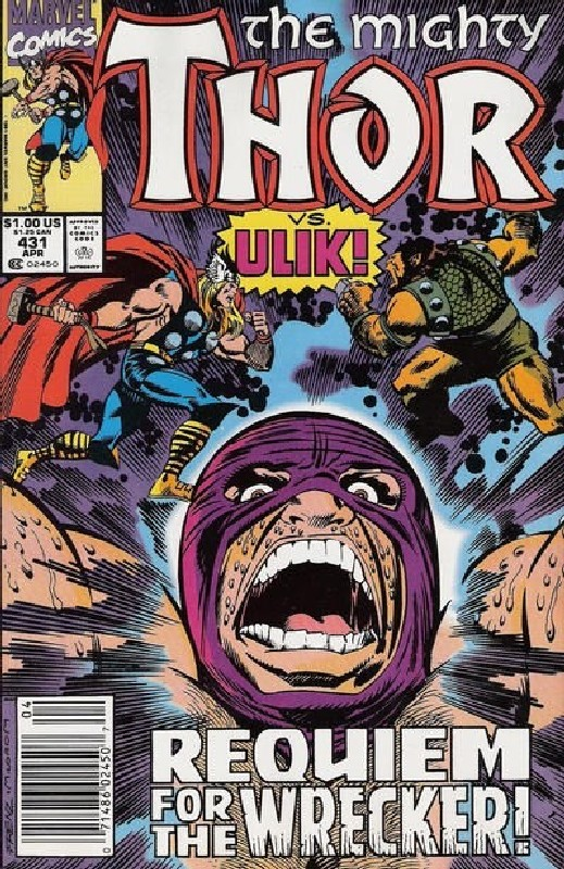 Cover of Thor (Vol 1) #431. One of 250,000 Vintage American Comics on sale from Krypton!