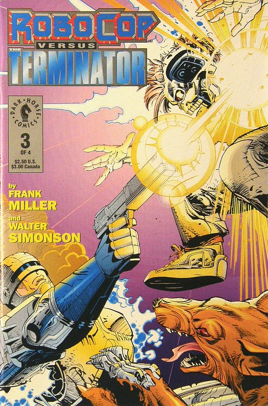 Cover of RoboCop vs Terminator (1992 Ltd) #3. One of 250,000 Vintage American Comics on sale from Krypton!