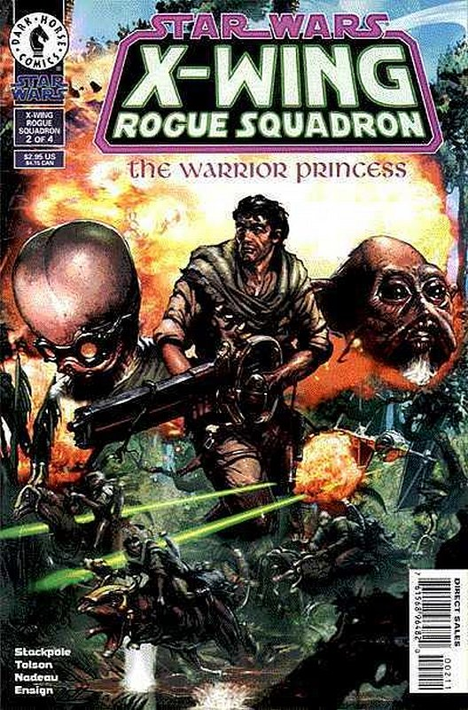 Cover of Star Wars: X-W Squadron-Warrior Princess #2. One of 250,000 Vintage American Comics on sale from Krypton!