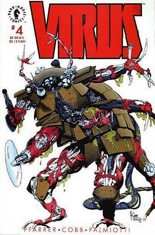 Cover of Virus #4. One of 250,000 Vintage American Comics on sale from Krypton!