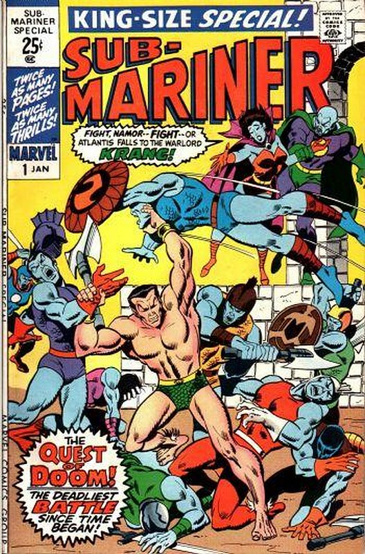 Cover of Sub-Mariner Annual #1. One of 250,000 Vintage American Comics on sale from Krypton!