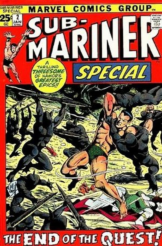 Cover of Sub-Mariner Annual #2. One of 250,000 Vintage American Comics on sale from Krypton!