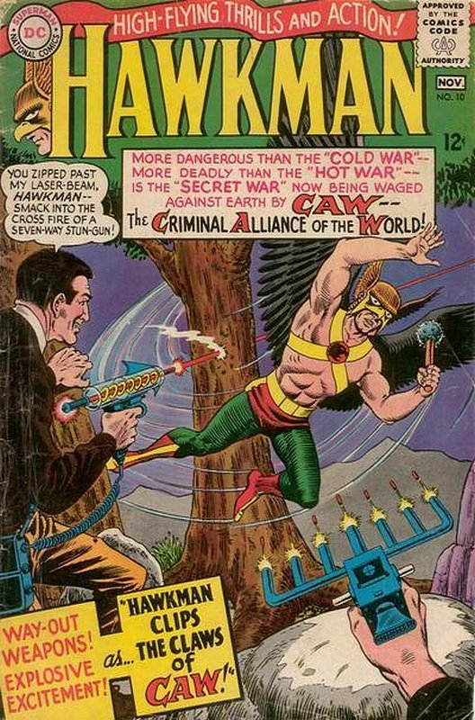 Cover of Hawkman (Vol 1) #10. One of 250,000 Vintage American Comics on sale from Krypton!