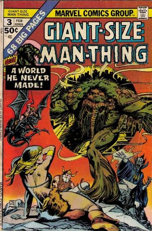 Cover of Giant-Size Man-Thing (Vol 1) #3. One of 250,000 Vintage American Comics on sale from Krypton!