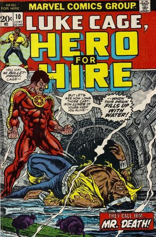 Cover of Hero For Hire (Vol 1) Luke Cage #10. One of 250,000 Vintage American Comics on sale from Krypton!