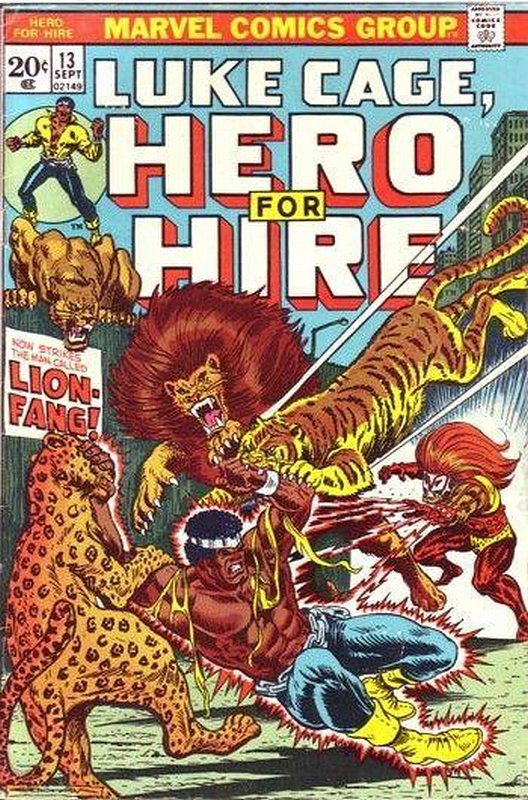 Cover of Hero For Hire (Vol 1) Luke Cage #13. One of 250,000 Vintage American Comics on sale from Krypton!