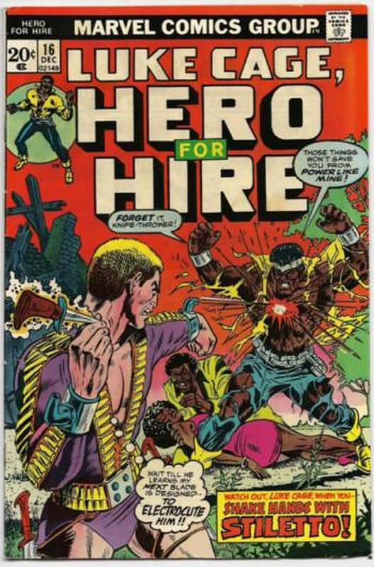 Cover of Hero For Hire (Vol 1) Luke Cage #16. One of 250,000 Vintage American Comics on sale from Krypton!