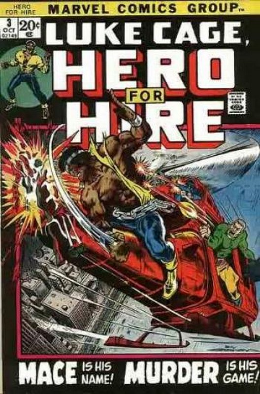 Cover of Hero For Hire (Vol 1) Luke Cage #3. One of 250,000 Vintage American Comics on sale from Krypton!