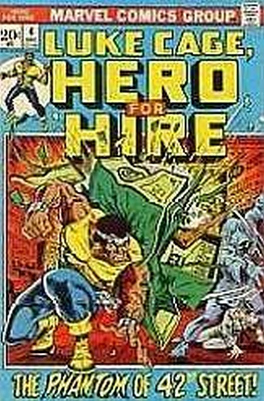 Cover of Hero For Hire (Vol 1) Luke Cage #4. One of 250,000 Vintage American Comics on sale from Krypton!