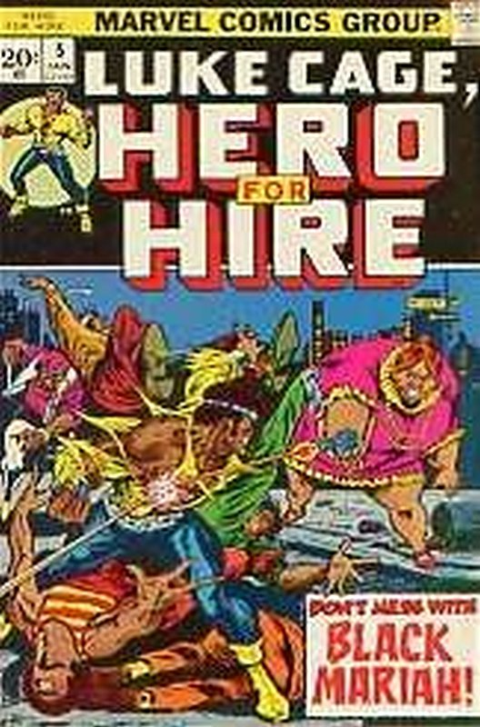 Cover of Hero For Hire (Vol 1) Luke Cage #5. One of 250,000 Vintage American Comics on sale from Krypton!
