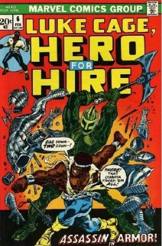 Cover of Hero For Hire (Vol 1) Luke Cage #6. One of 250,000 Vintage American Comics on sale from Krypton!