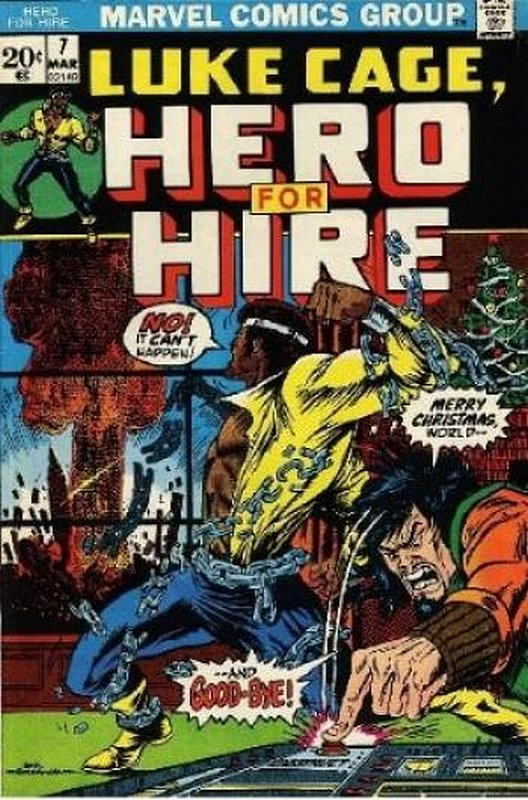 Cover of Hero For Hire (Vol 1) Luke Cage #7. One of 250,000 Vintage American Comics on sale from Krypton!