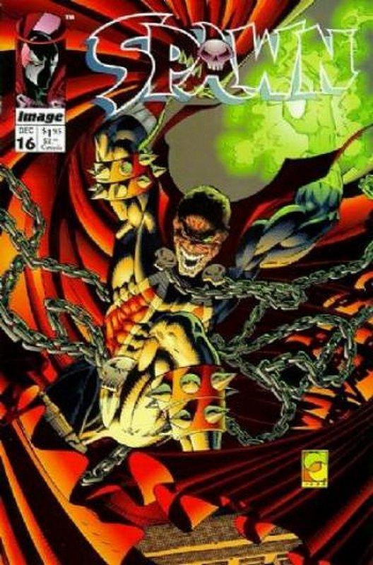 Cover of Spawn #16. One of 250,000 Vintage American Comics on sale from Krypton!