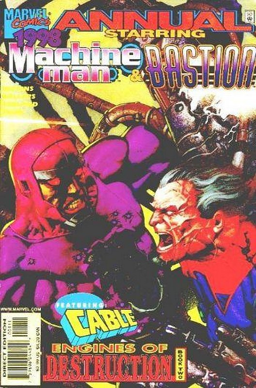 Cover of Machine Man Annual (1998 One Shot) #1998. One of 250,000 Vintage American Comics on sale from Krypton!