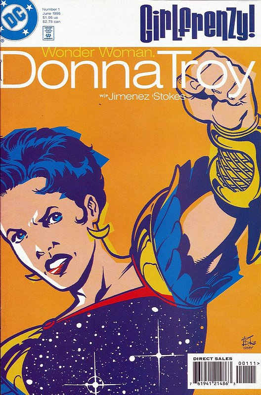 Cover of Wonder Woman Donna Troy - Girl Frenzy (1998) #1. One of 250,000 Vintage American Comics on sale from Krypton!